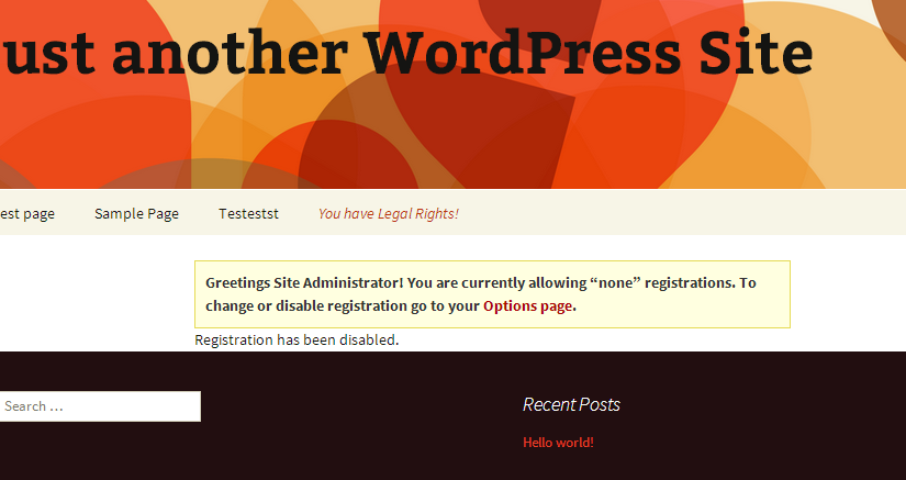 WordPress Multisite Signup page
